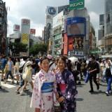 浴衣で東京観光